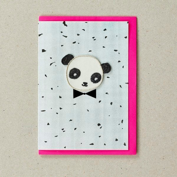Panda Patch (Iron On) Greetings Card