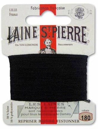 Laine St Pierre Darning Wool Black 180