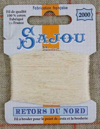 Retors Du Nord Embroidery Cotton Un-Dyed 2000