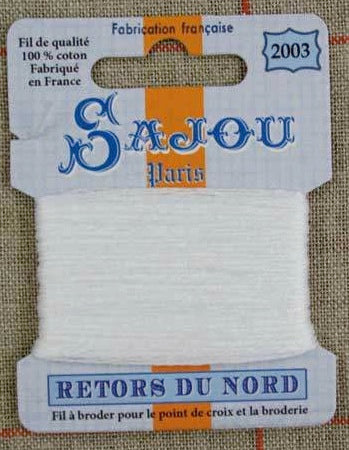 Retors Du Nord Embroidery Cotton Pure White 2003