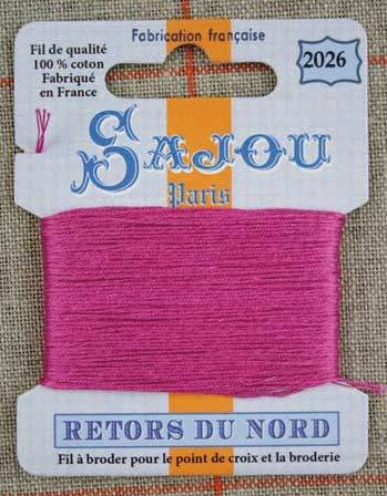 Retors Du Nord Embroidery Cotton Fuchsia 2026