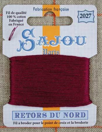 Retors Du Nord Embroidery Cotton Burgundy 2027