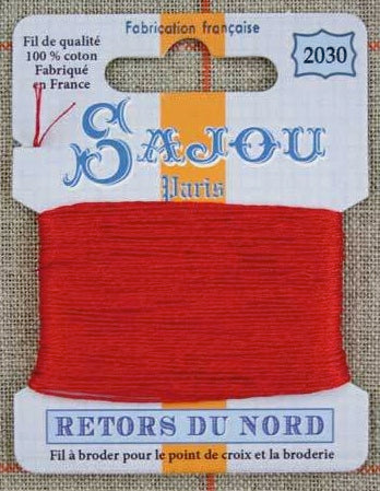 Retors Du Nord Embroidery Cotton Red 2030