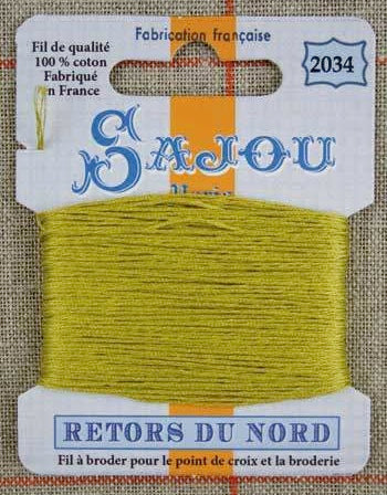 Retors Du Nord Embroidery Cotton Moss 2034
