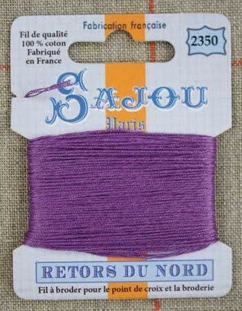 Retors Du Nord Embroidery Cotton Purple 2350