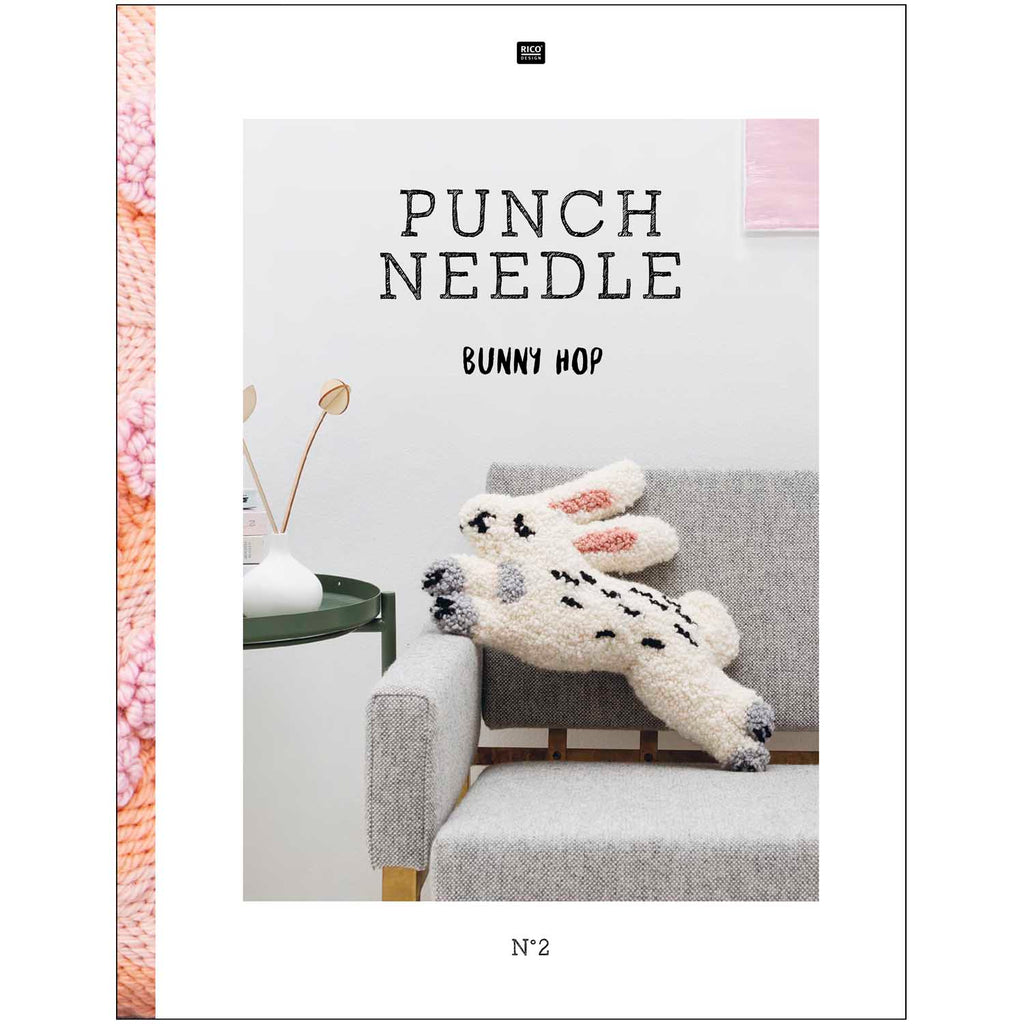 Rico Punch Needle Pattern Book & How To : Bunny Hop (Book 2)