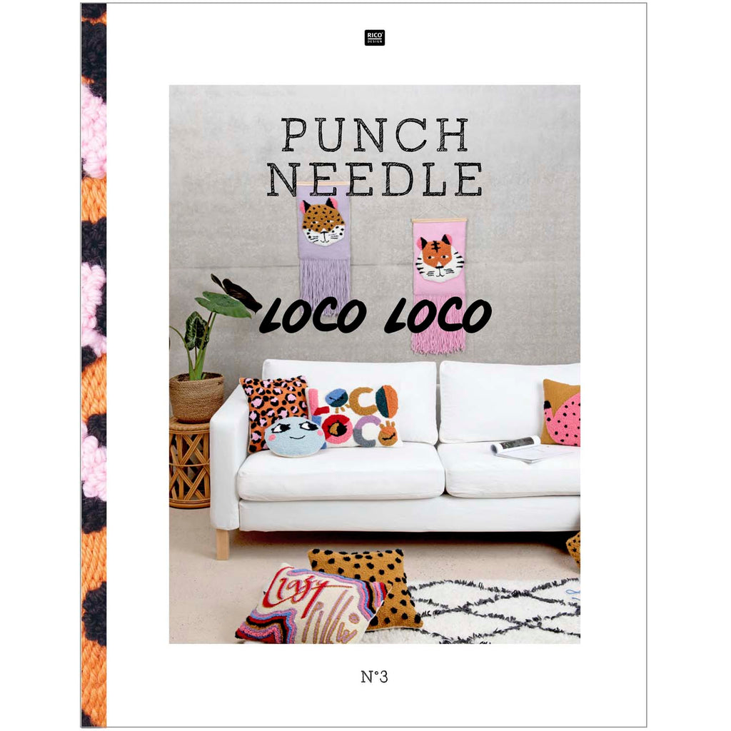 Rico Punch Needle Pattern Book & How To : Loco Loco (Book 3)