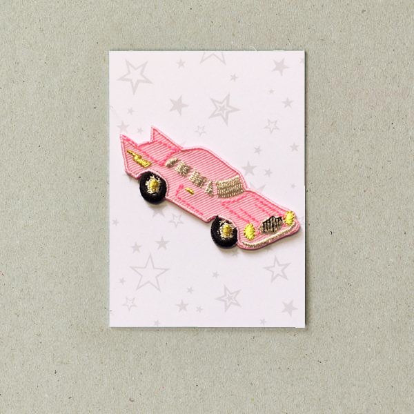 Pink Cadillac Iron on Patch