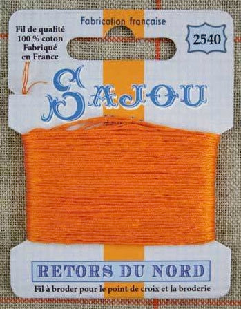 Retors Du Nord Embroidery Cotton Mandarine 2540