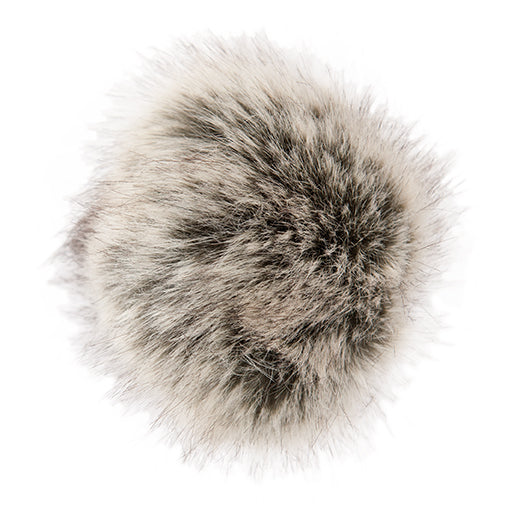 Fake fur Pompom 10cm Black Nature 25