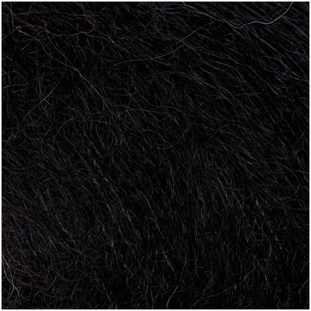 Super Kid Mohair Silk 25g Black 007
