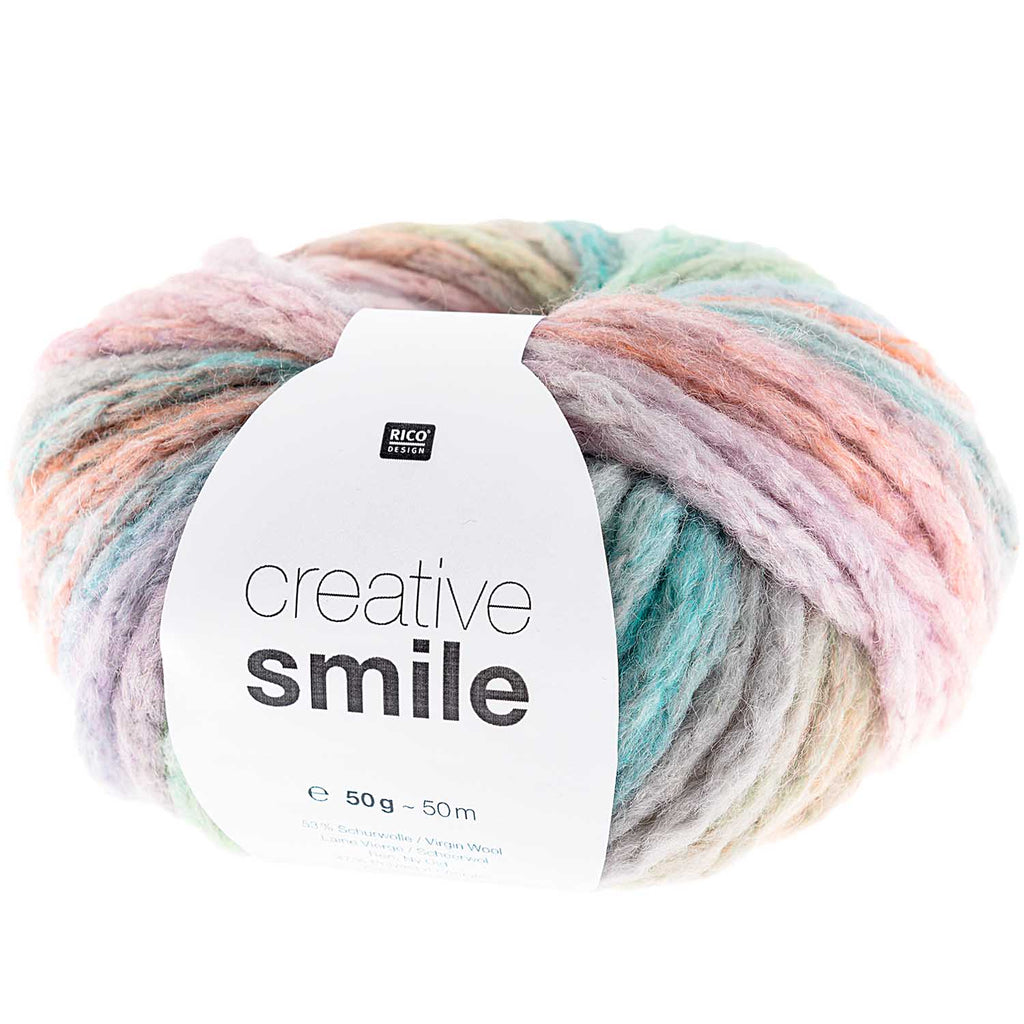 Rico Smile Super Chunky Yarn 001 Pastel