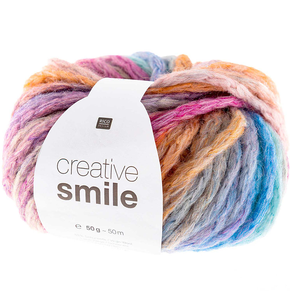 Rico Smile Super Chunky Yarn 004 Rainbow
