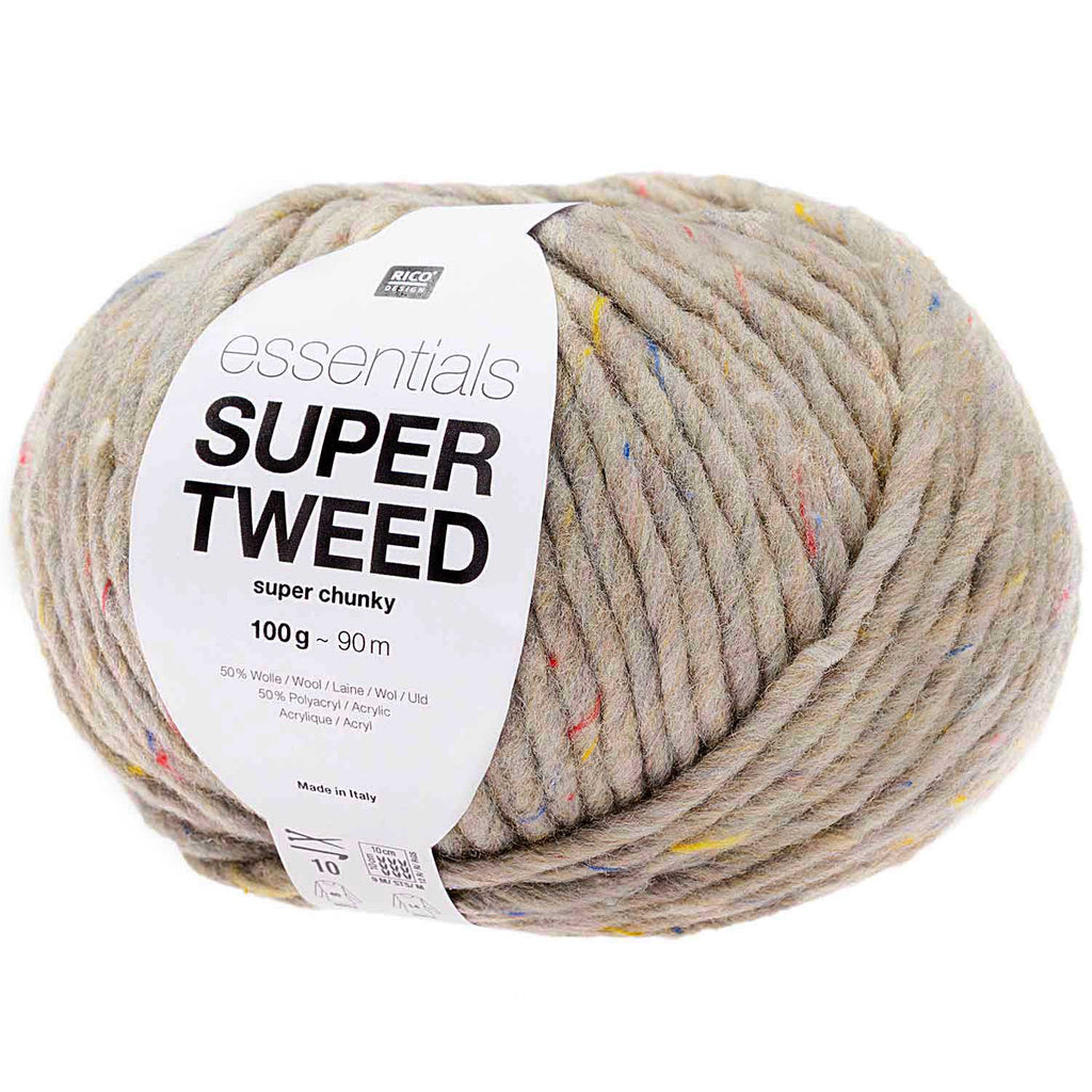 Rico Essentials Super - Super TWEED Chunky Yarn GREY 005
