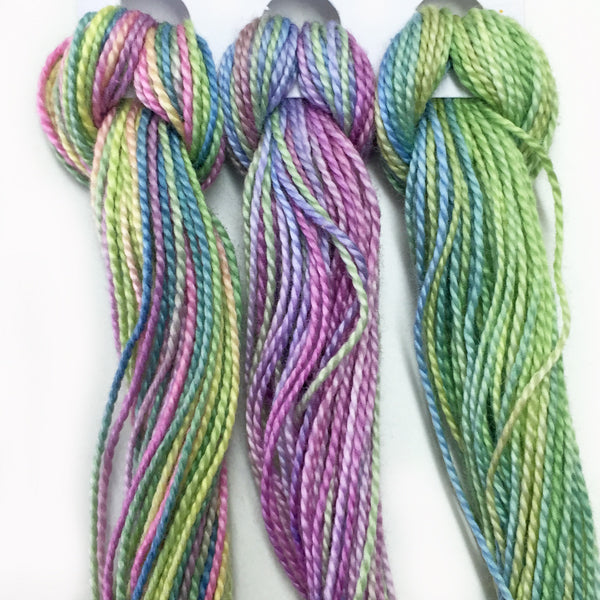 Hand Dyed Perle 8 threads x 3 Grapes