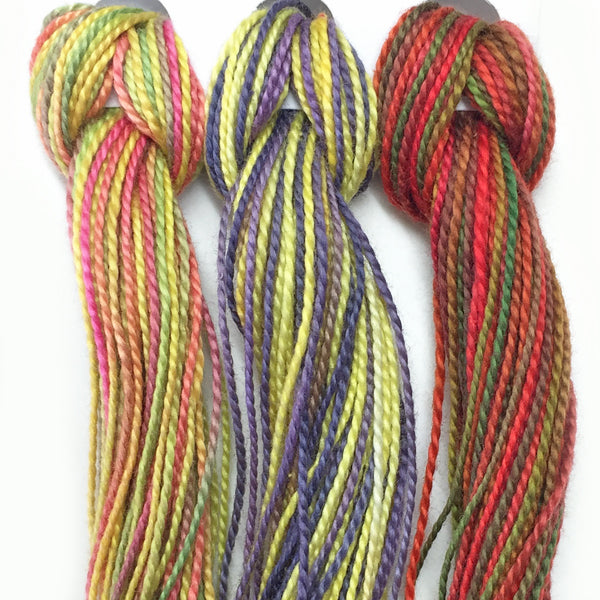 Hand Dyed Perle 8 threads x 3 Freesia