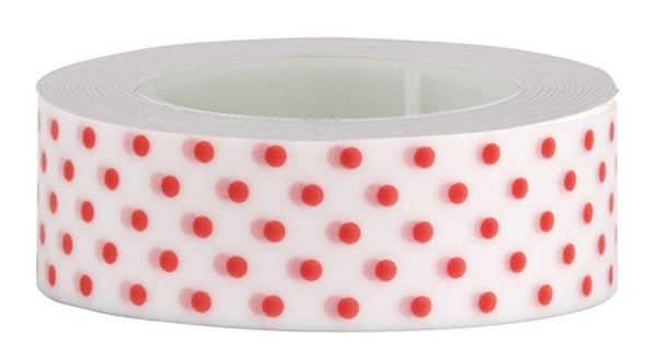 Washi Tape white with pink dots
