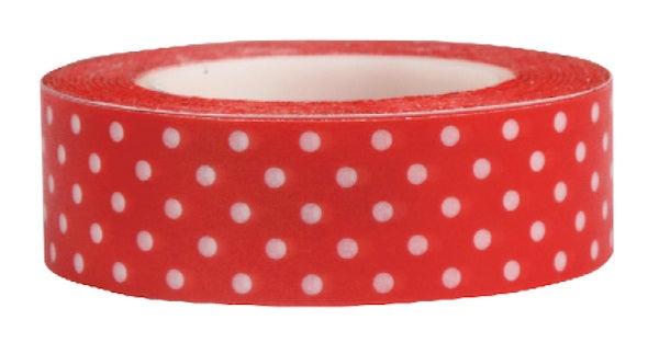 Washi Tape Red with white polka dots
