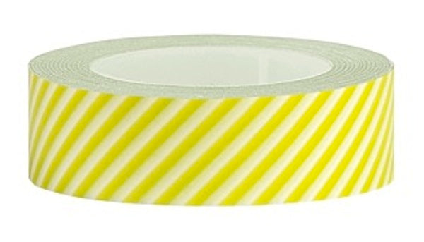 Washi Tape Lime green and white diagonal stripe