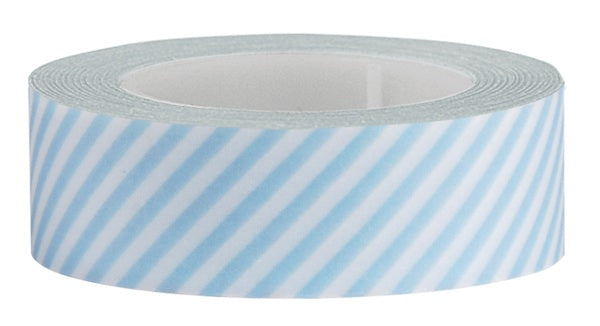 Washi Tape Blue diagonal strip