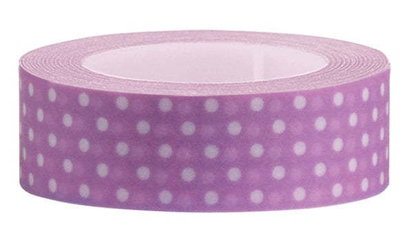 Washi Tape Purple polka dot