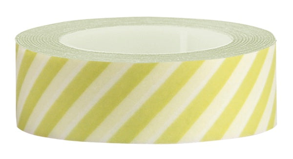 Washi Tape Green diagonal stripe