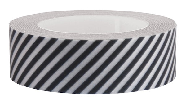 Washi Tape black and white diagonal stripe