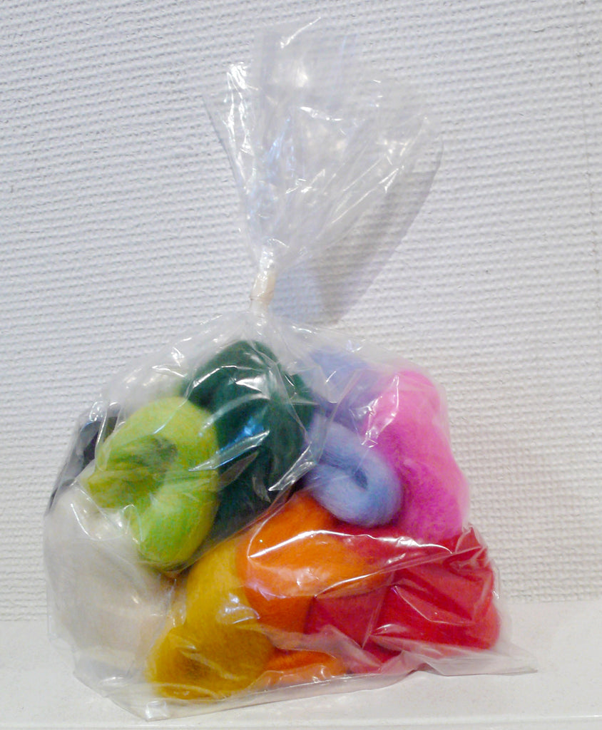 100g Rainbow refill Wool Tops Bag for Felting & Spinning