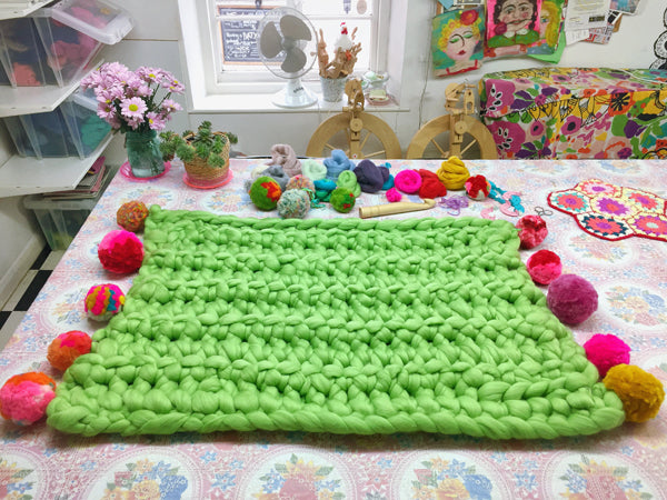 Giant Extreme Crochet Bundle Kit : Lettuce Green Wooltops & Hook