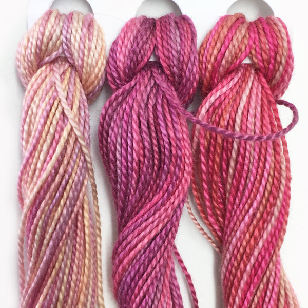 Hand Dyed Perle 8 threads x 3 Snaps