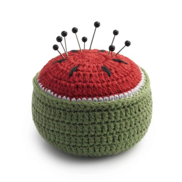 Watermelon Crocheted Pin cushion - fixing weight 6cm