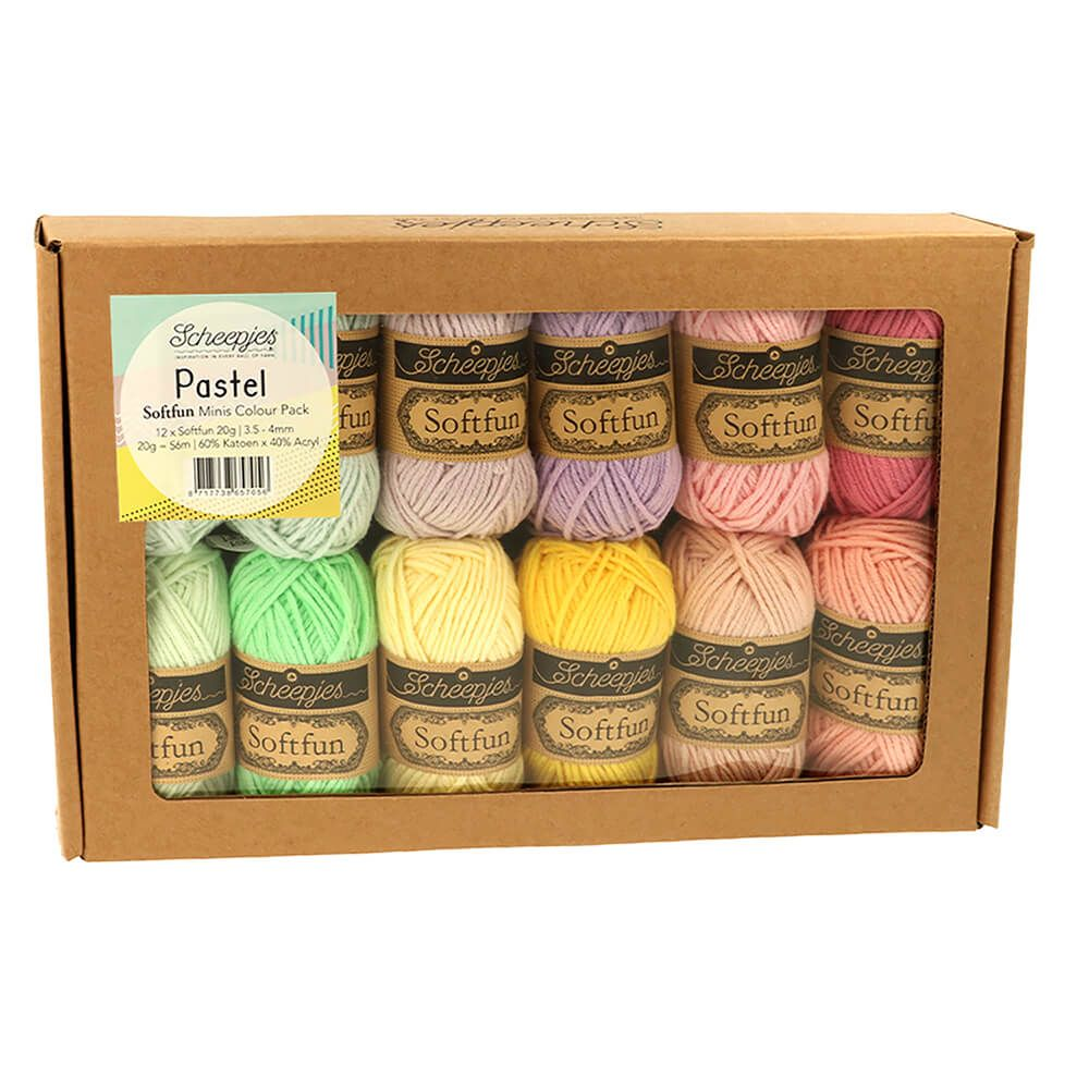 Scheepjes Softfun Colour Pack 12 x 20g Pastel