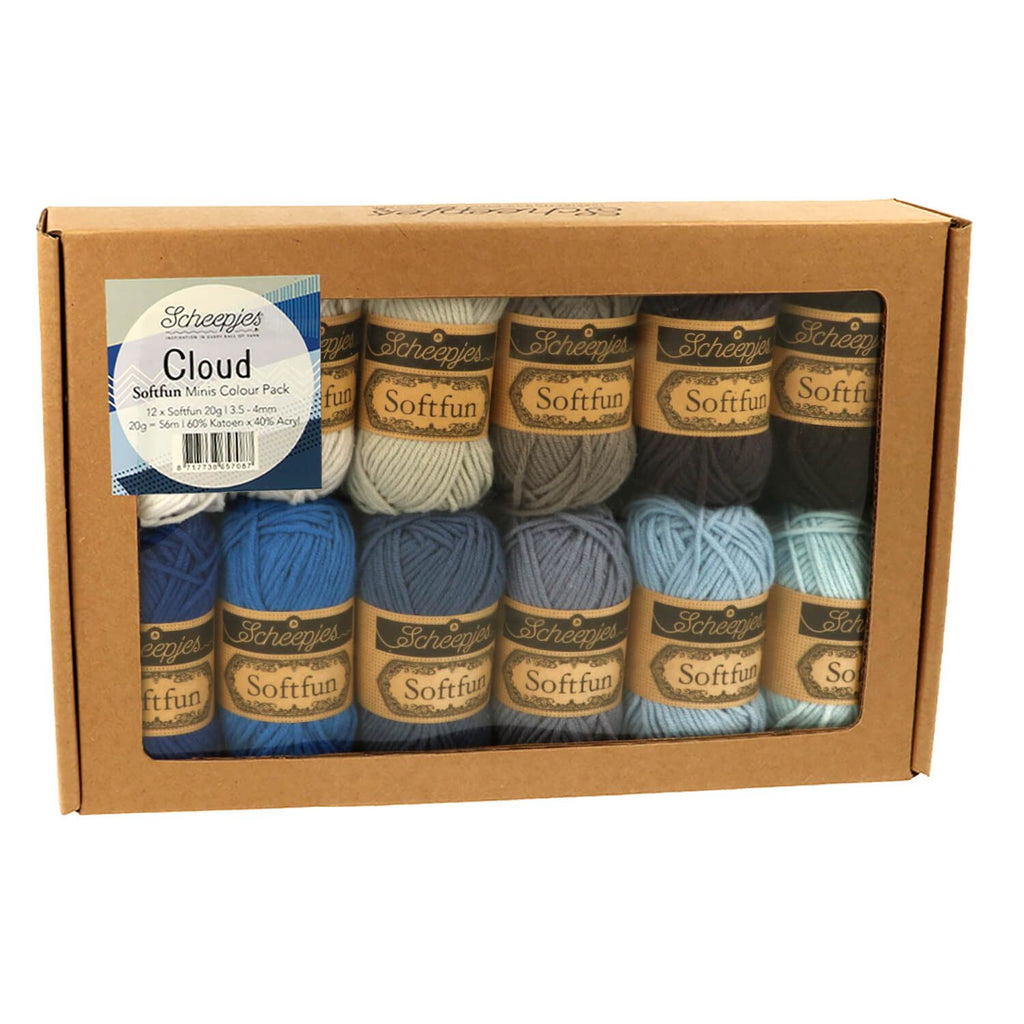 Scheepjes Softfun Colour Pack 12 x 20g Cloud