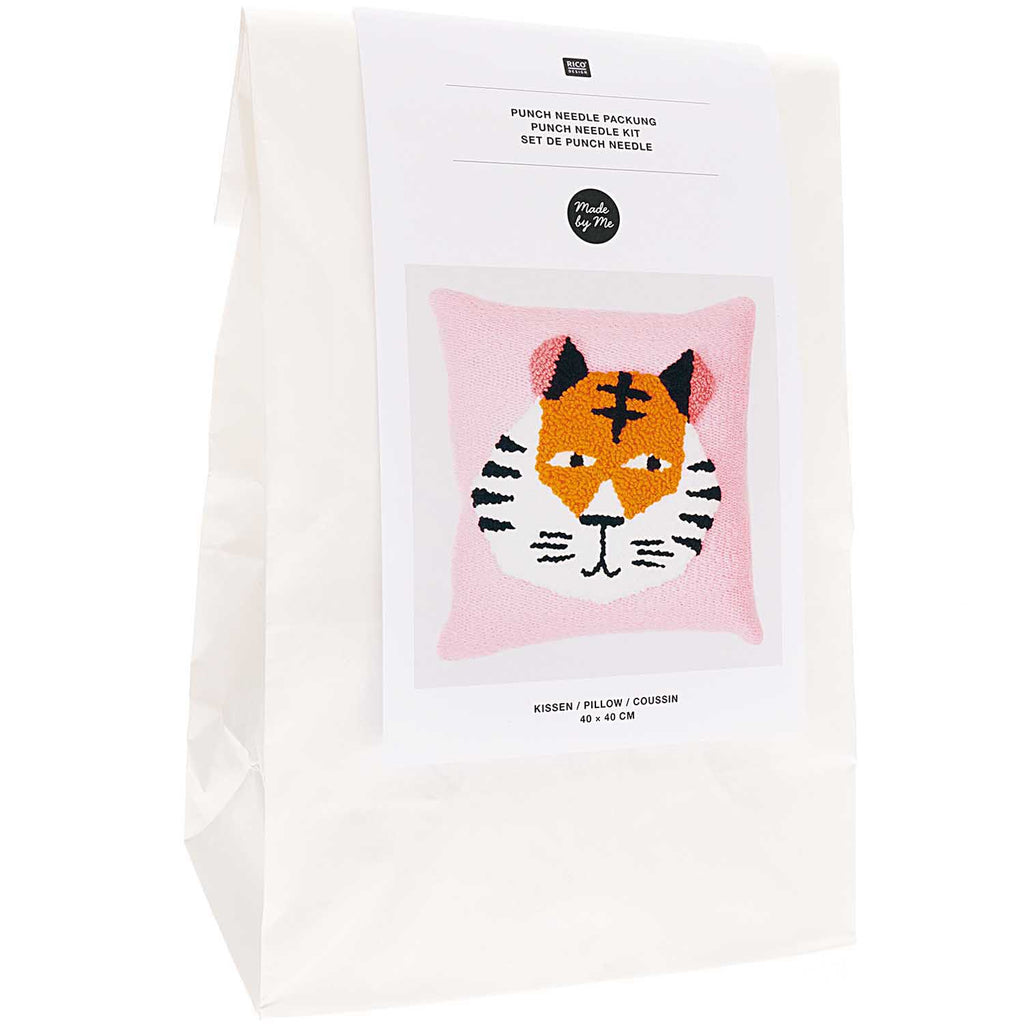 Punch Needle Cushion Kit : Tiger