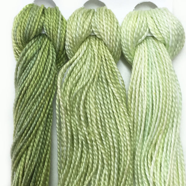Hand Dyed Perle 8 threads x 3 Privet