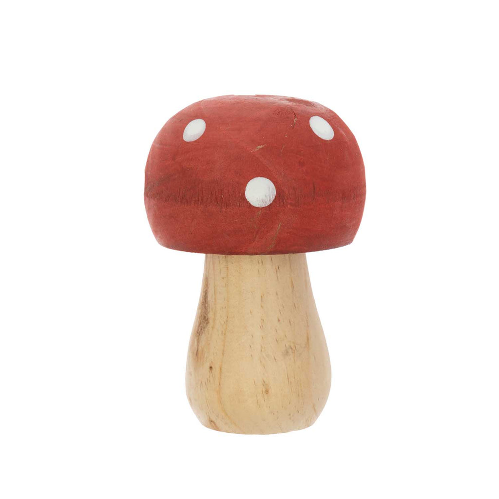 Wooden Toadstool : Red with white spots : Small