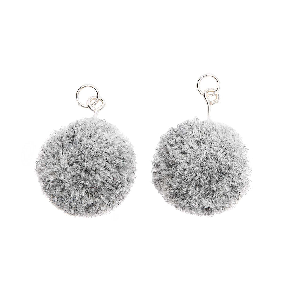 Pompoms 20mm  x Grey x 2