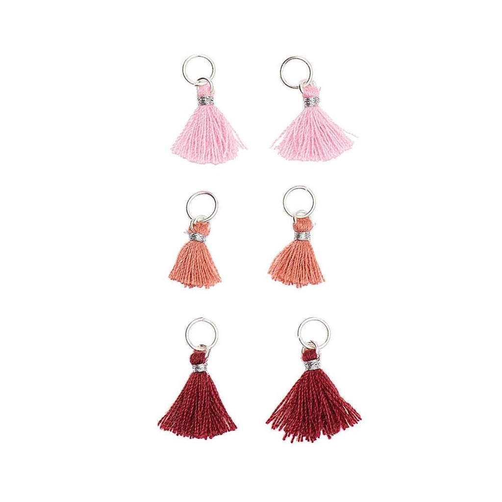Mini Tassels 11mm x 6 : Reds