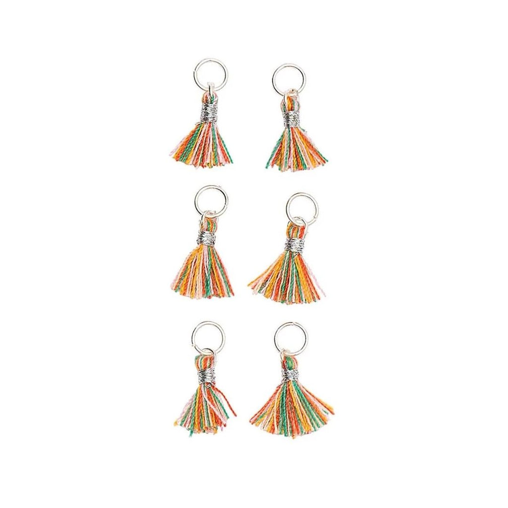 Mini Tassels 11mm x 6 : Multicolour