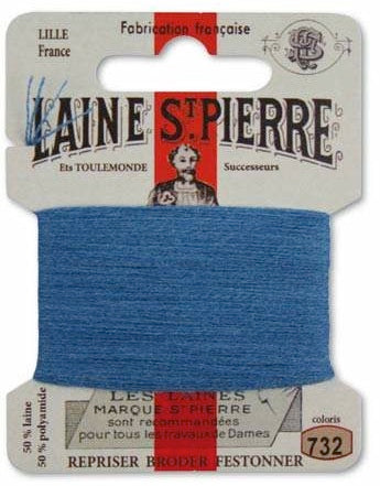 Laine St Pierre Darning Wool Gauloise Blue 732