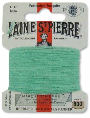 Laine St Pierre Darning Wool Emerald 800