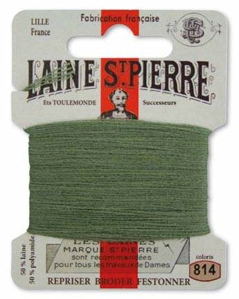 Laine St Pierre Darning Wool Sage Green 814