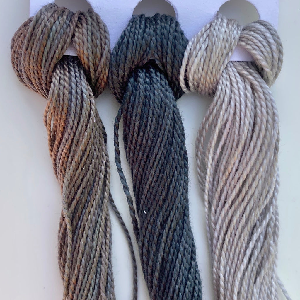 Hand Dyed Perle 8 threads x 3 Touch of Grey