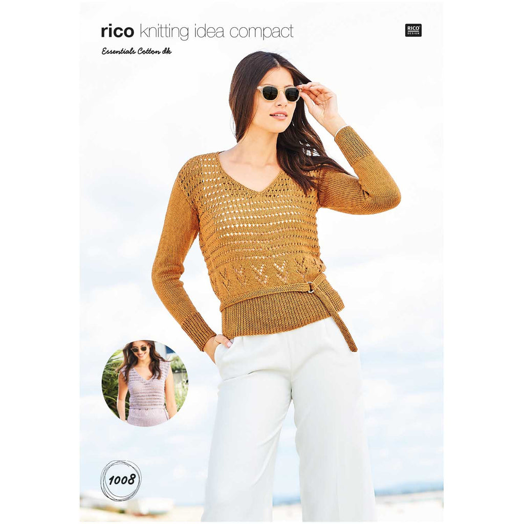 Sweater and Sleeveless DK Pattern 1008