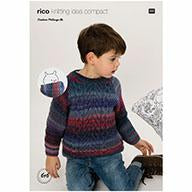 Rico Melange DK Pattern Kids Sweater & Snood 97616