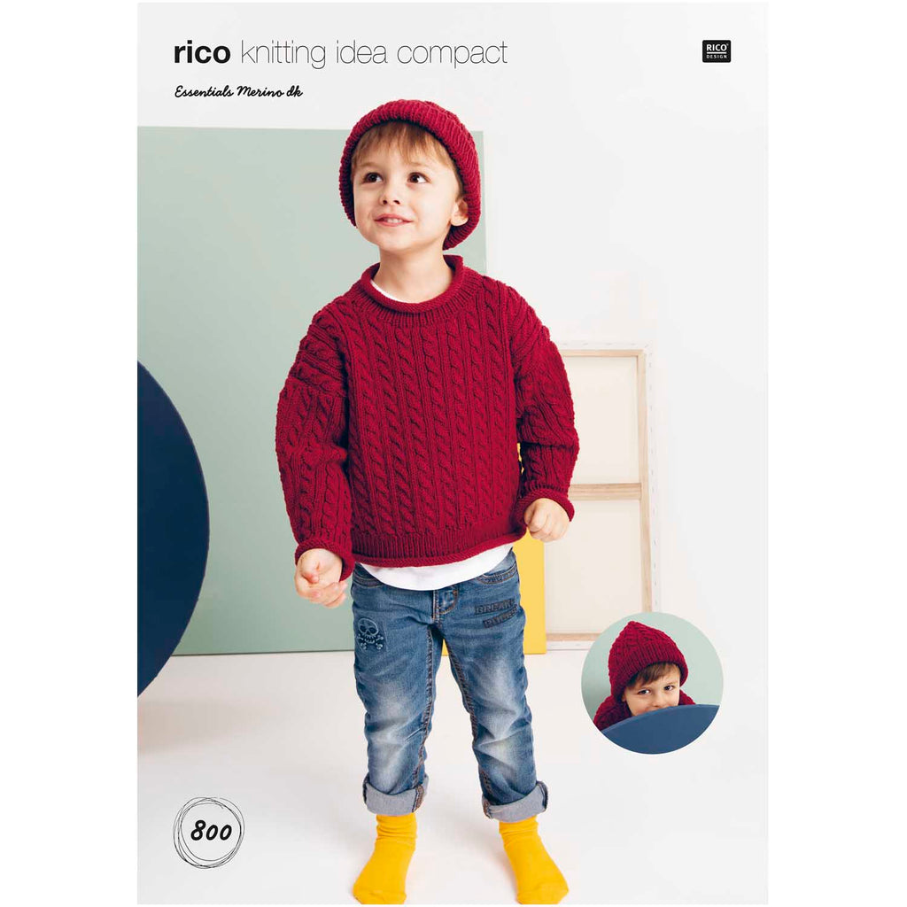 Rico Essentials Merino DK Pattern 800 Kids Sweater