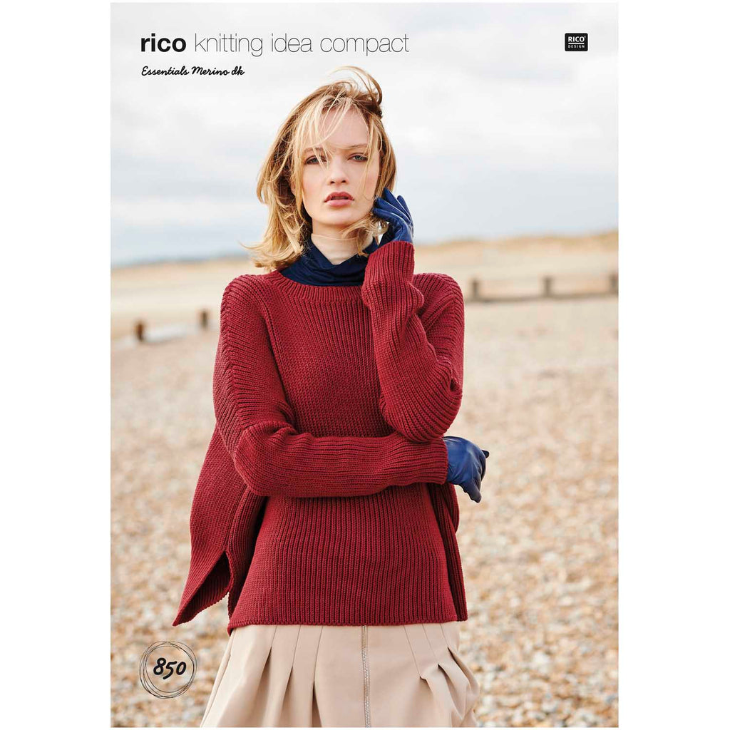 Rico Essentials Merino DK Pattern 850 Boat Neck Sweater