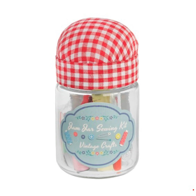 Mini Jam Jar Pin Cushion & Sewing Kit