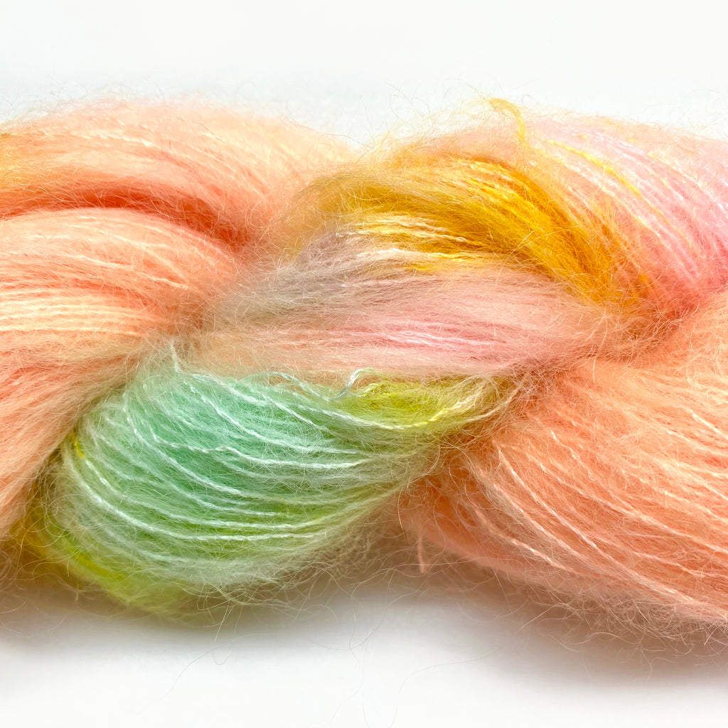 Gilliangladrag Holy Fluff Hand Dyed Kid Silk Lace : 'Au Clair De La Lune'