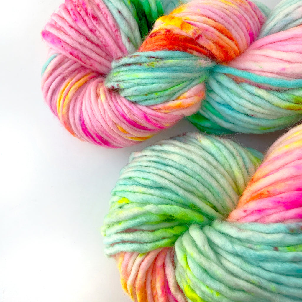 Holy Fluff Hand Dyed Super Chunky 200g : 'Boogie Wonderland'